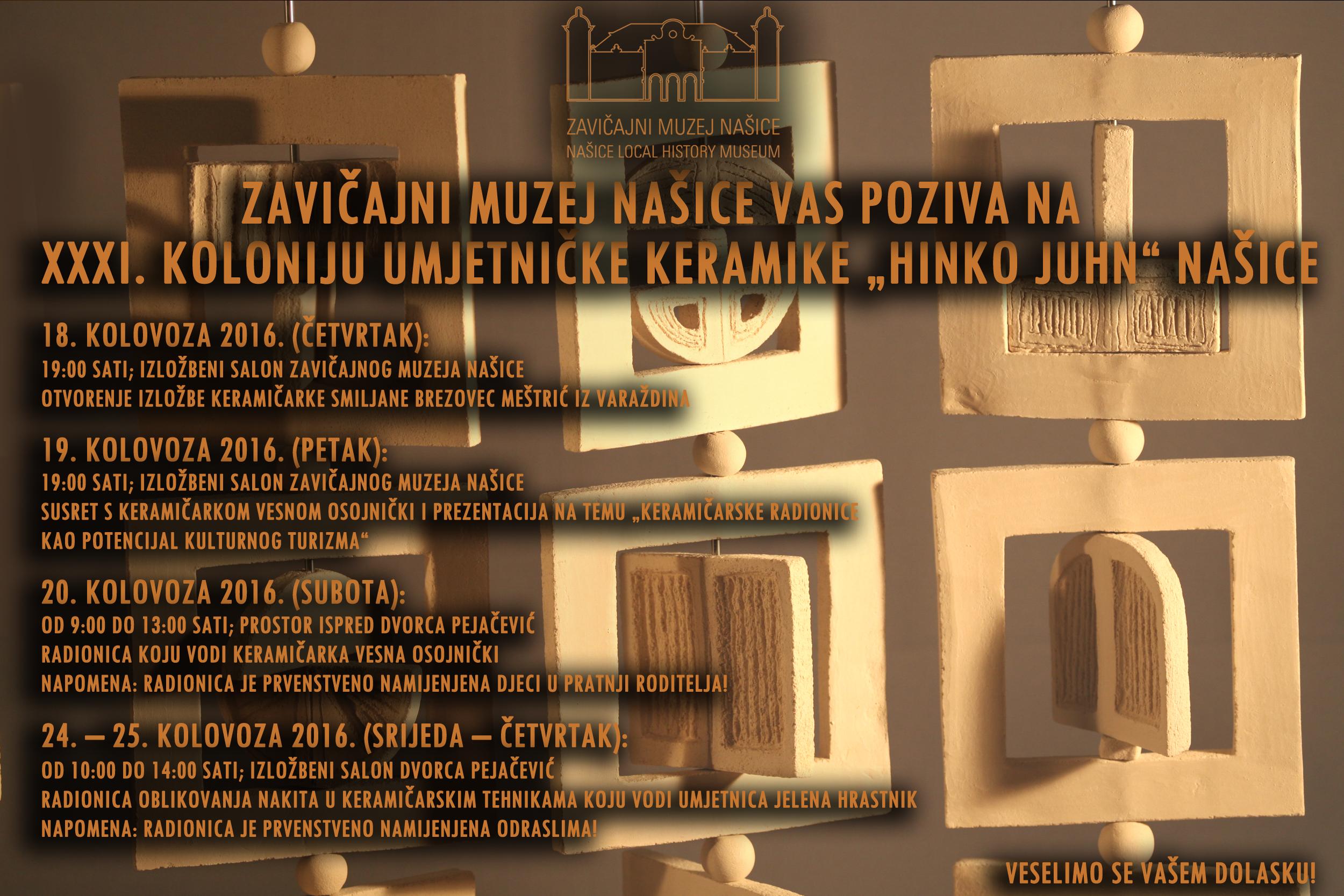 "XIII. kolonija umjetničke keramike ""Hinko Juhn"""