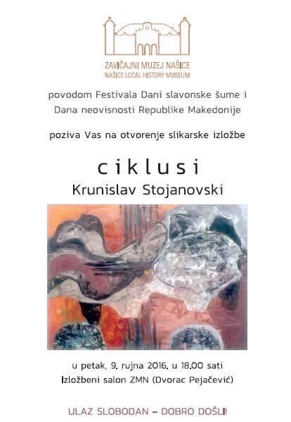 """Otvorenje izložbe """"Ciklusi"""" Krunislava Stojanovskog"""