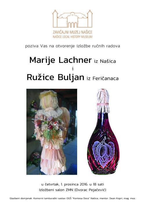 Otvorenje izložbe ručnih radova Marije Lachner i Ružice Buljan
